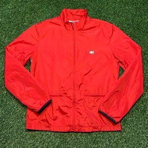 🇺🇸Tommy Hilfiger Jeans USA Red Zip Rain Jacket